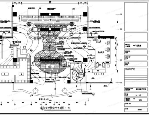 CAD, 施工圖, 工裝, 會所, 桑拿, SPA