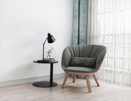 椅子, 边几, 台灯, 北欧