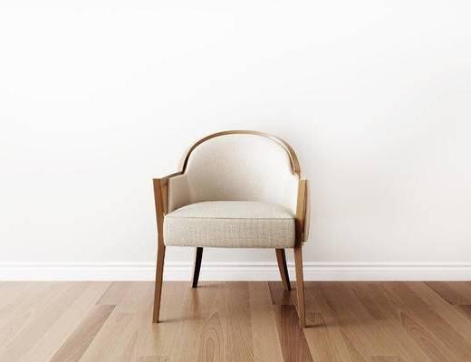 单人沙发, 单椅, 新中式