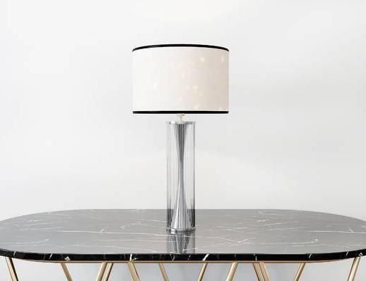 台灯, 桌子, 现代