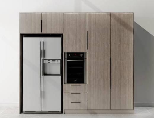 橱柜, 冰箱, 现代