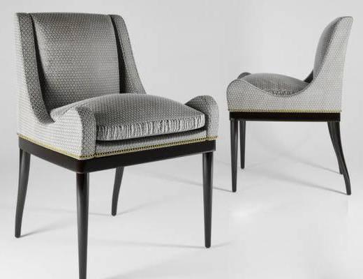 现代简约, 椅子, 灰色, 现代椅子, 下得乐3888套模型合辑