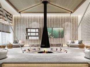 自然风民宿酒店休息区3D模型