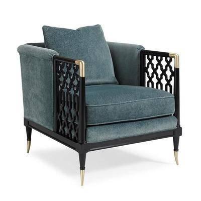 美式沙发椅, 单椅, 椅子