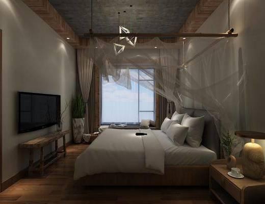 禅意民宿, 民宿, 客房, 双人床