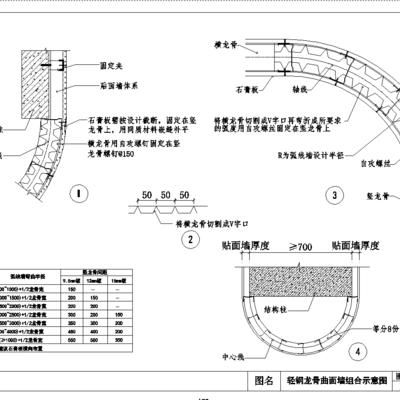 CAD, 节点, 通用, 隔墙, 下得乐3888套模型合辑