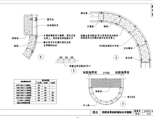 CAD, 节点, 通用, 隔墙