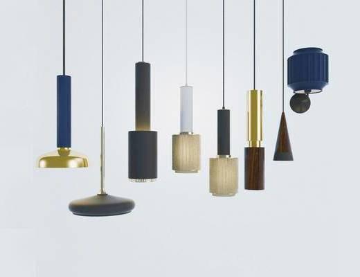 现代简约, 吊灯组合, 灯具组合, 现代吊灯