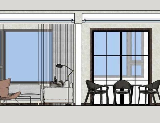 现代客厅, 客厅餐厅