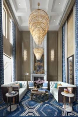 新古典客厅, 沙发茶几组合, 吊灯, 边几, 落地灯, 地毯, 新古典