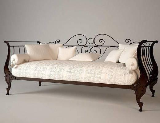 美式古典, 沙发, 多人沙发, 美式沙发