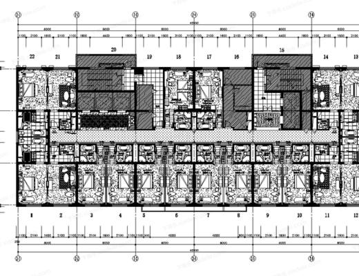 CAD, 施工图, 工装, 酒店, 平面图, 梁志天, 下得乐3888套模型合辑