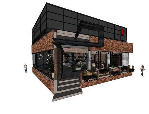 工业风咖啡馆, 咖啡馆