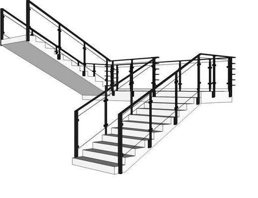 楼梯, 装饰, 单体结构, 现代