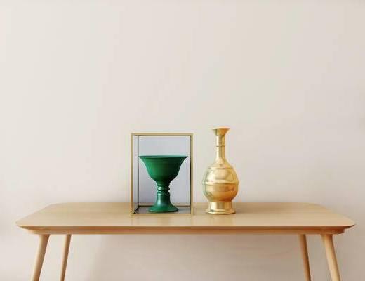 陶瓷器皿, 摆件组合, 新中式