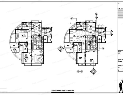 CAD, 施工图, 室内, 家装, 平面图, 立面图, 梁志天, 下得乐3888套模型合辑