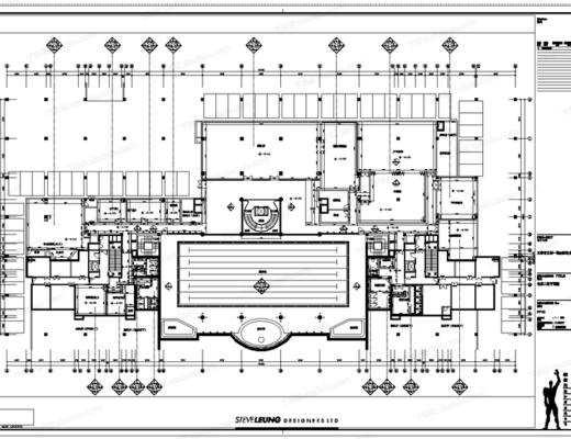 CAD, 施工图, 大师, 梁志天, 工装, 平面图, 立面图, 酒店