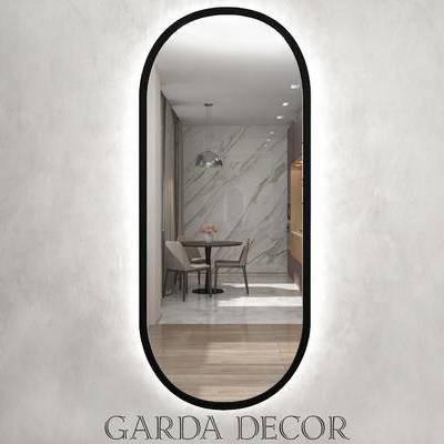 镜子, 现代千亿国际app|娱乐网站, 全身镜, 装饰镜, 下得乐3888套模型合辑