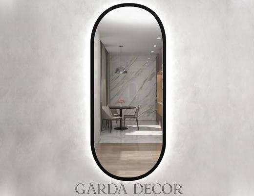 镜子, 现代简约, 全身镜, 装饰镜, 下得乐3888套模型合辑