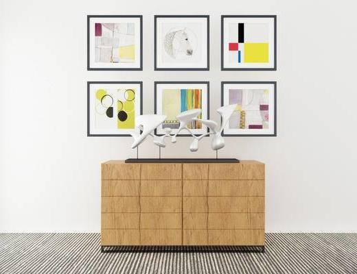 边柜, 壁画, 现代