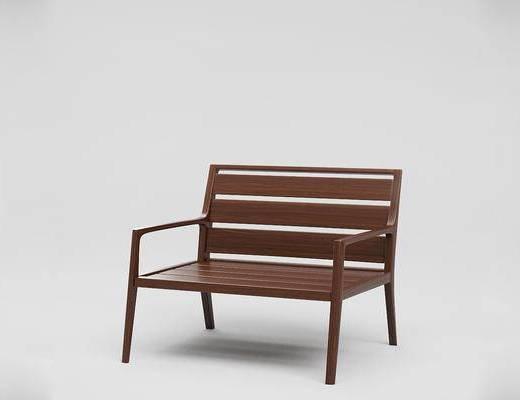 现代简约, 单人沙发, 现代沙发, 美国RestorationHardware