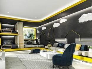 现代青年旅馆客房3D模型