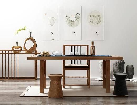 桌子, 椅子, 凳子, 新中式