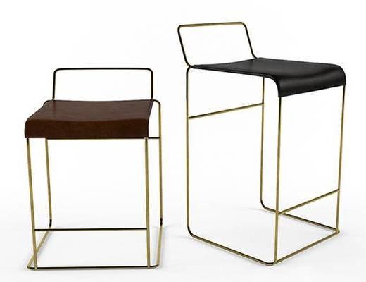 现代, 金属, 椅子, 单椅