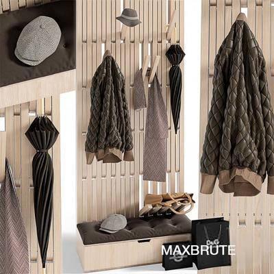 美式, 衣柜, 衣服, 帽子, 雨伞