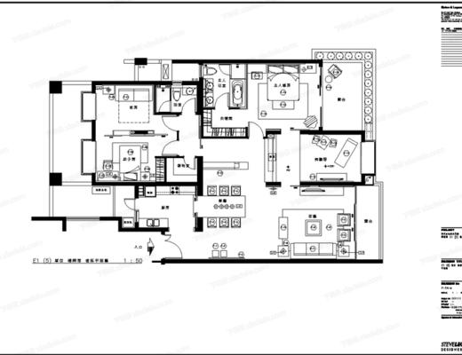 CAD, 施工图, 家装, 家居, 平面图, 立面图, 大样, 节点