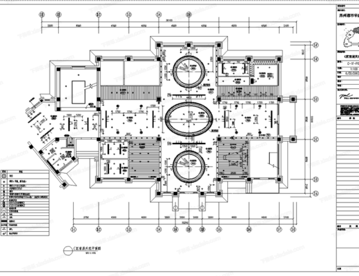 CAD, 施工图, 工装, 会所, 平面图, 立面施工图