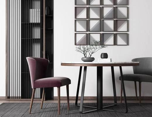 新中式, 桌椅组合, 茶几