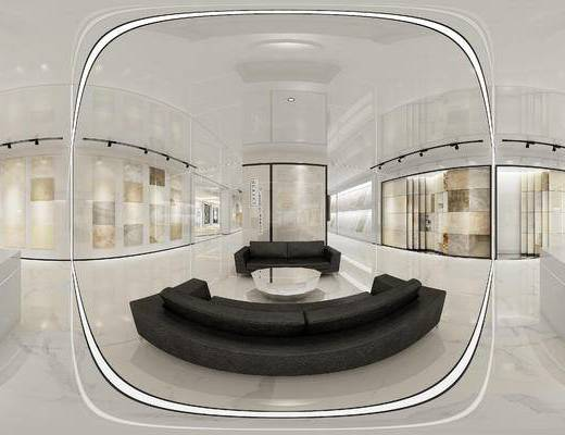 现代会谈区, 多人沙发, 茶几, 现代