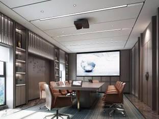 新中式会议室3D模型