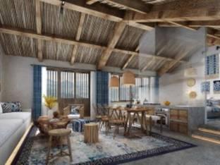 新中式民宿客房套房3D模型