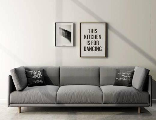 沙发组合, 多人沙发, 现代