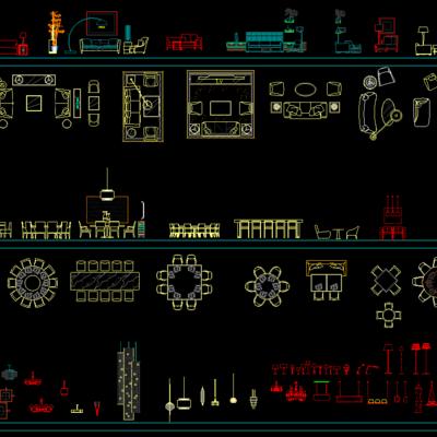 CAD, 模块, 下得乐3888套模型合辑