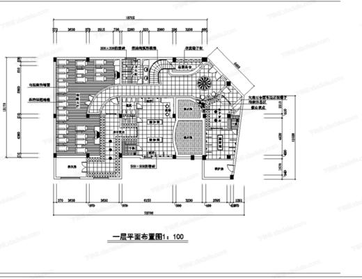 CAD, 施工图, 工装, 洗浴城, 平面图, 立面图, 大样图, 节点, 天花图