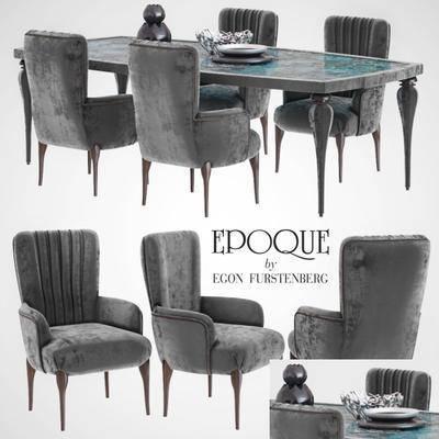 桌椅组合, 桌子, 椅子, 美式