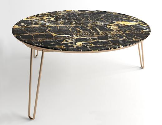 美式简约, 大理石, 桌子, 圆桌