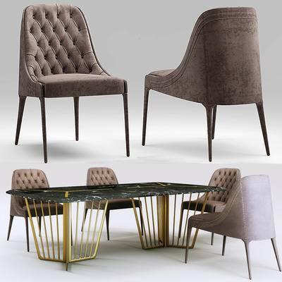 美式, 餐桌, 后现代, 椅子