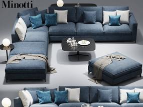 现代简约, 沙发茶几, 多人沙发, 意大利minotti