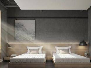 自然风酒店双人房客房3D模型