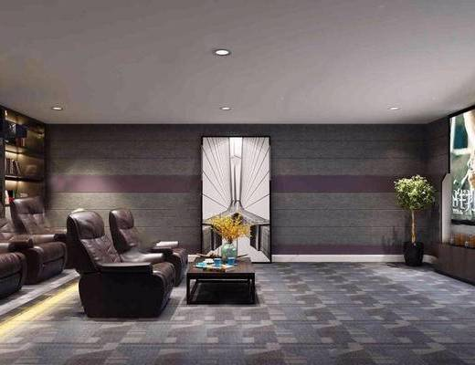 影音室, 单椅, 装饰画