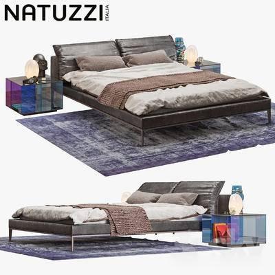 床, 美式, 床头柜