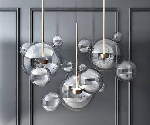 北欧简约, 吊灯, 玻璃吊灯