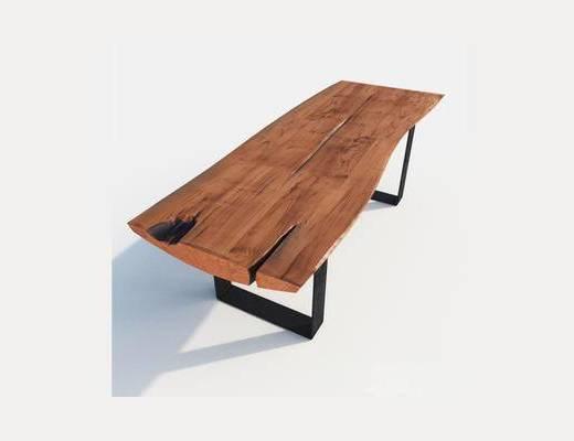 现代, 工业风, 茶几, 实木, 咖啡桌