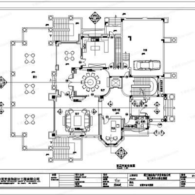 梁景华, CAD, 施工图, 平面, 立面, 别墅