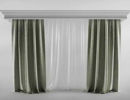 现代简约, 窗帘