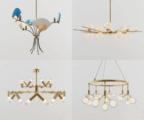 后现代, 吊灯, 现代吊灯, 灯具